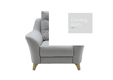 Pip Fabric Recliner Armchair in C242 Brush Pewter on Furniture Village