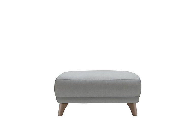 Pip Fabric Footstool in C242 Brush Pewter on Furniture Village