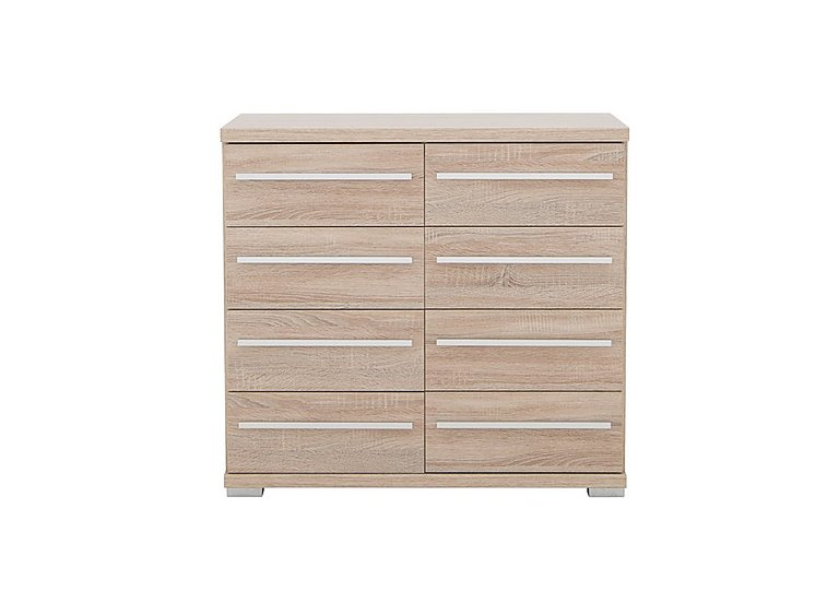 Laguna 8 Drawer Chest in Light Rustic Oak on Furniture Village