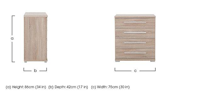 Laguna Medium 4 Drawer Chest in  on Furniture Village