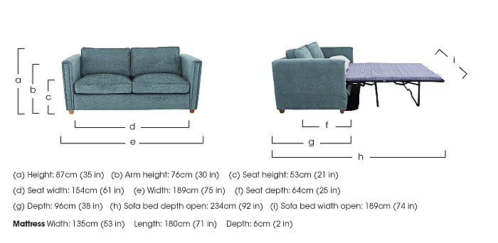 Austin 3 Seater Fabric Sofa Bed in  on Furniture Village
