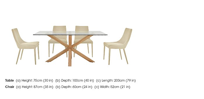 Evoque 200cm Dining Table and 4 Vista Chairs in  on Furniture Village