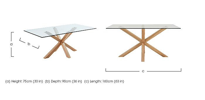 Evoque 160cm Dining Table in  on Furniture Village