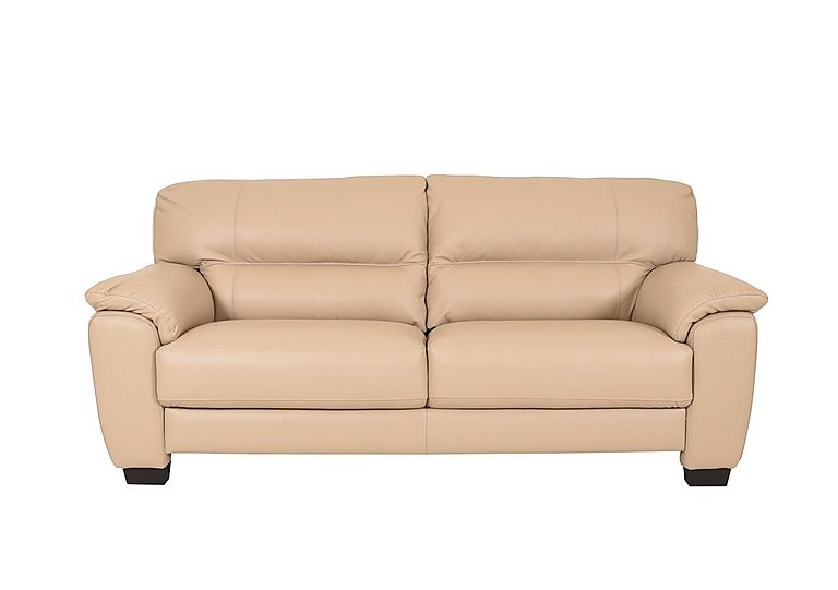 Shades 3 Seater Leather Sofa - Only One Left! in 013 - Bv - 039c Pebble on Furniture Village