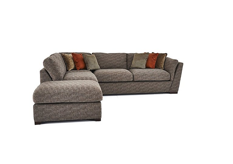 Captivating Bailey Fabric Corner Sofa With Footstool