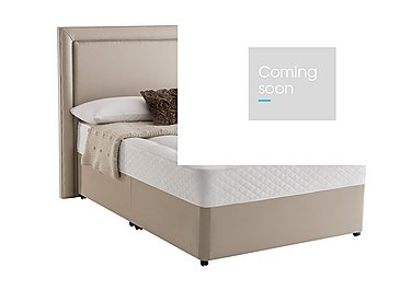 Miracoil Serenity Ortho Divan Set in Sandstone on Furniture Village