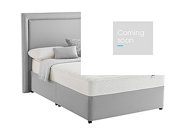Miracoil Serenity Memory Divan Set in Slate Grey on Furniture Village
