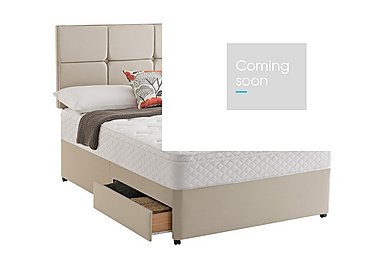 Miracoil Serenity Memory Cushion Top Divan Set in Sandstone on Furniture Village
