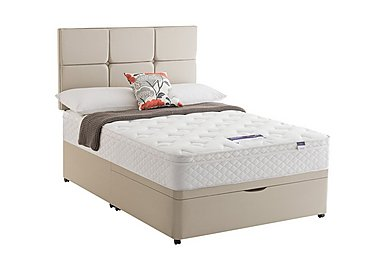 Miracoil Serenity Memory Cushion Top Half Ottoman Divan Set in Sandstone on Furniture Village