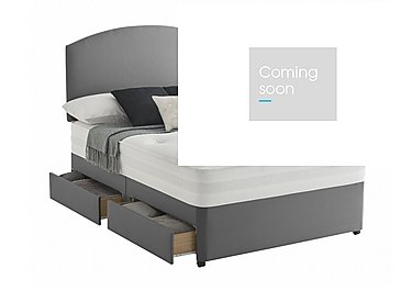 Mirapocket Serenity 1000 Divan Set in Slate Grey on Furniture Village