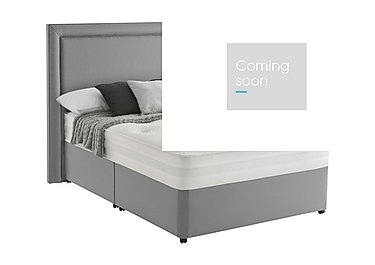 Mirapocket Serenity 1200 Divan Set in Slate Grey on Furniture Village