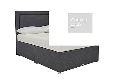 Solutions Side Lift Ottoman Bed Frame in Linoso Charcoal on Furniture Village