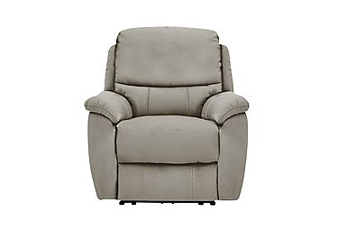 Oregon Fabric Recliner Armchair in Bfa-Blj-R946 Silver Grey on Furniture Village