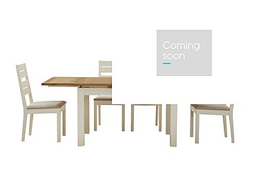 Compton Extending Dining Table and 4 Slatted Back Chairs in Two Tone on Furniture Village