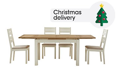 Save 472 Compton Extending Dining Table And 4 Slatted Back Chairs