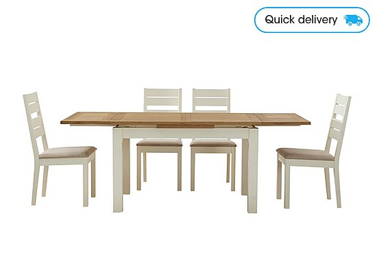 Phenomenal Compton Extending Dining Table And 4 Slatted Back Chairs Squirreltailoven Fun Painted Chair Ideas Images Squirreltailovenorg