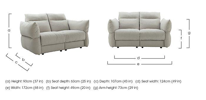 Tess 2 Seater Fabric Sofa in  on Furniture Village
