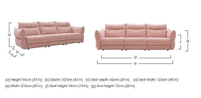 Tess 3 Seater Fabric Sofa in  on Furniture Village
