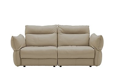 Tess 3 Seater Leather Sofa in P321 Husk Clay on Furniture Village