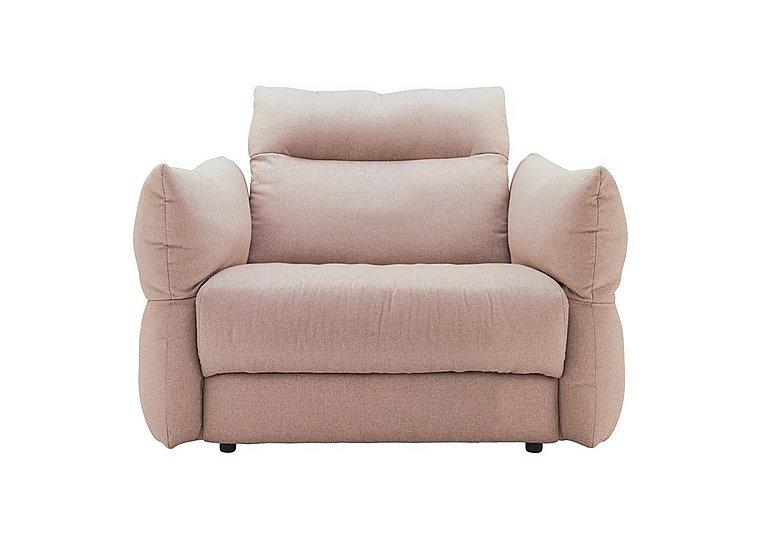 Tess Large Fabric Armchair in C243 Brush Rose on Furniture Village
