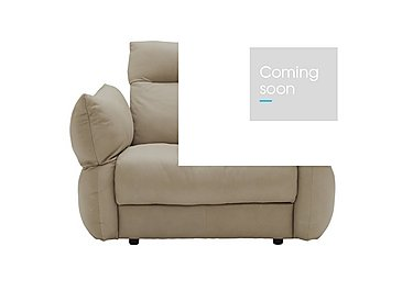 Tess Large Leather Armchair in P321 Husk Clay on Furniture Village