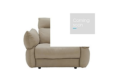 Tess Leather Armchair in P321 Husk Clay on Furniture Village