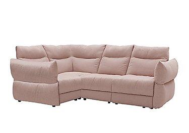 Tess Fabric Corner Sofa in C243 Brush Rose on Furniture Village