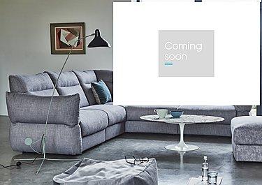 Tess Leather Corner Sofa in  on Furniture Village