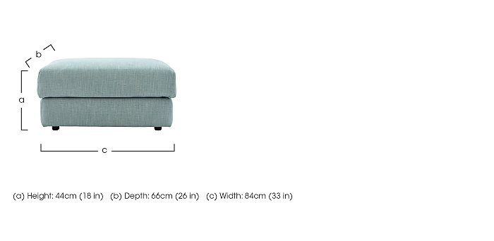 Tess Fabric Footstool in  on Furniture Village