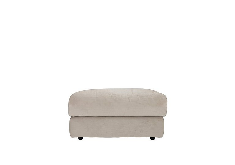 Tess Fabric Footstool in B041 Touch Cygnet on Furniture Village