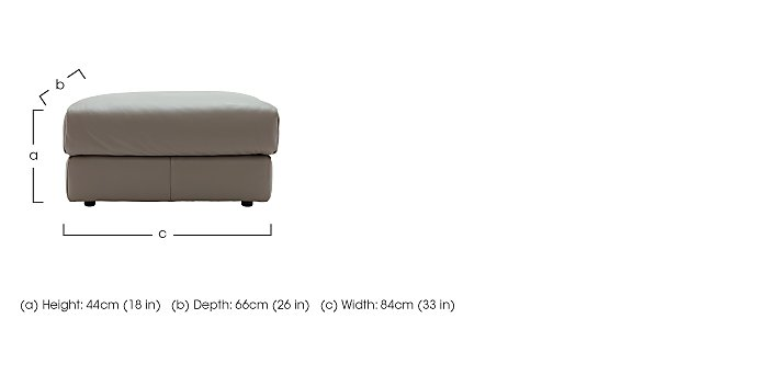 Tess Leather Footstool in  on Furniture Village