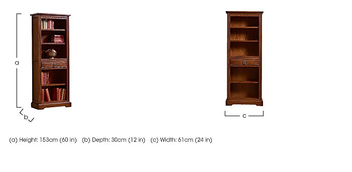 Old Charm Narrow Bookcase in  on Furniture Village