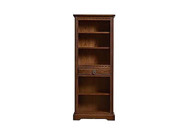Old Charm Aldeburgh Narrow Bookcase in Light Oak Traditional on Furniture Village