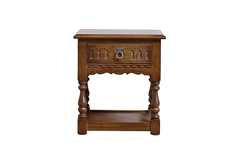 Old Charm Lamp Table in Light Oak Traditional on Furniture Village