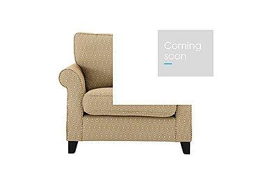 Sahara Fabric Armchair in Octave Ochre Dark Feet on Furniture Village