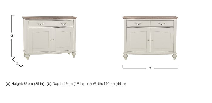 Annecy Narrow Sideboard in  on Furniture Village