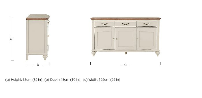 Annecy Wide Sideboard in  on Furniture Village