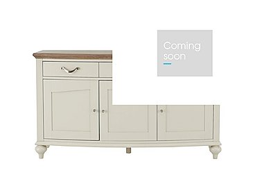 Annecy Wide Sideboard in Grey Washed Oak And Soft Grey on Furniture Village