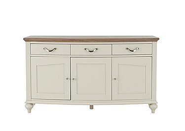 Annecy Wide Sideboard in Soft Grey Paint on Furniture Village