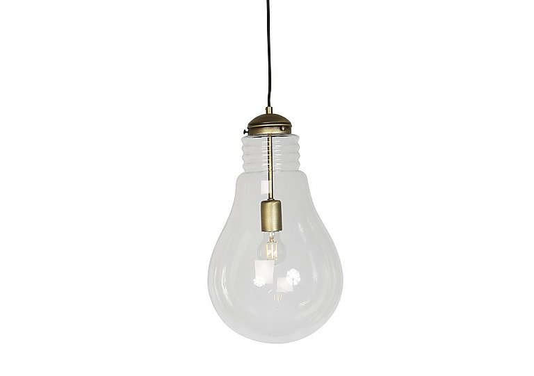 Oversized Bulb Ceiling Light in Antique Brass on Furniture Village