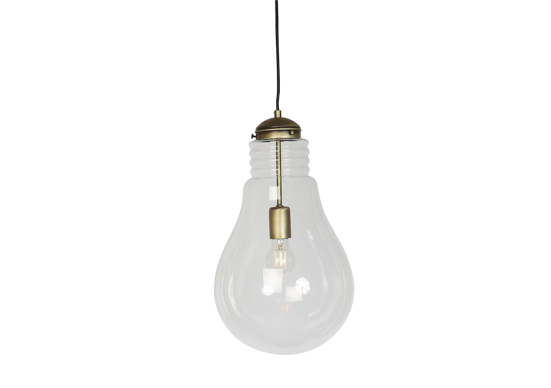 spool glass shades products light of closed bell bulb pendant