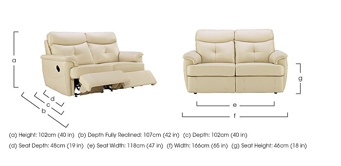 Atlanta 2 Seater Leather Recliner Sofa in  on Furniture Village