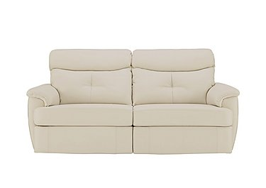 Atlanta 3 Seater Leather Recliner Sofa in P231 Capri Stone on Furniture Village