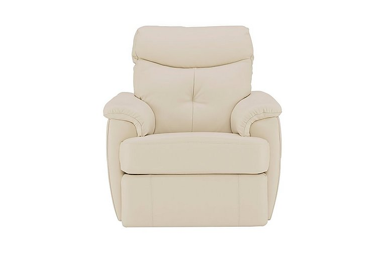 Atlanta Leather Recliner Armchair in P231 Capri Stone on Furniture Village