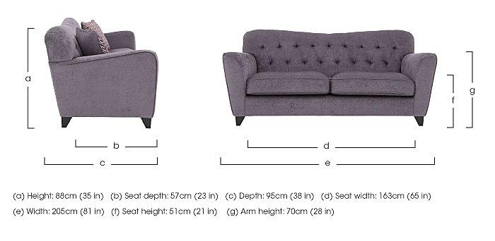 Viola 3 Seater Fabric Sofa in  on Furniture Village