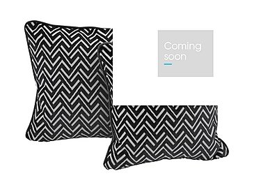 Viola Pair of Fabric Scatter Cushions in Percy Black on Furniture Village