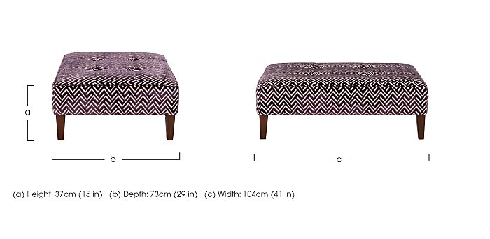 Viola Fabric Footstool in  on Furniture Village