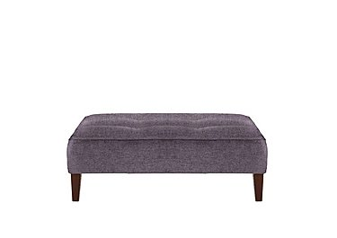 Viola Fabric Footstool in Pharaoh Plum Dark Antique on Furniture Village