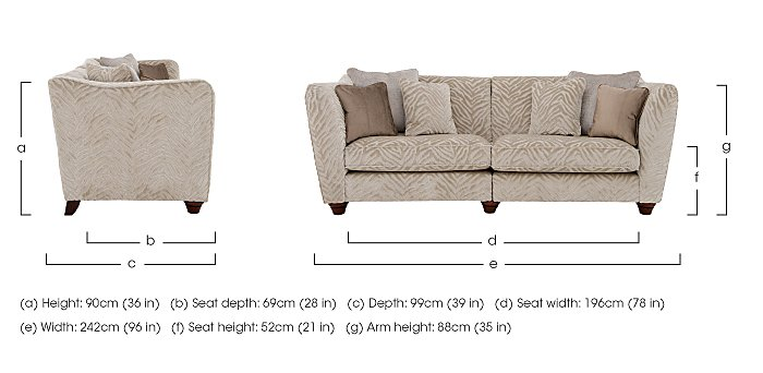 The Hollywood Collection Marilyn 4 Seater Fabric Sofa in  on Furniture Village