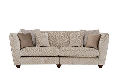 The Hollywood Collection Marilyn 4 Seater Fabric Sofa in Kenya Natural An on Furniture Village